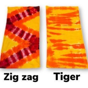 Tie dye bamboo neck gaiter washable youth facemask